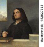 portrait of a venetian... | Shutterstock . vector #452827915