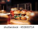 Gourmet Tasty Beef Burgers Wit...