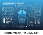 hud style icon elements. head... | Shutterstock .eps vector #452837131