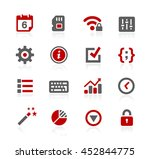 system settings vector icons | Shutterstock .eps vector #452844775