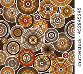Aboriginal Art Vector Seamless...