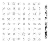 icon collection   kitchen tools ... | Shutterstock .eps vector #452850601