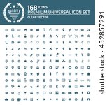 universal website icon set... | Shutterstock .eps vector #452857291