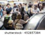 blurred image   jostling crowd... | Shutterstock . vector #452857384