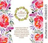 romantic invitation. wedding ... | Shutterstock .eps vector #452860315