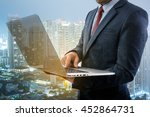 double exposure of a... | Shutterstock . vector #452864731
