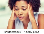 people  emotions  stress and... | Shutterstock . vector #452871265