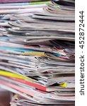 newspapers | Shutterstock . vector #452872444