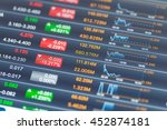 stock market data on tablet... | Shutterstock . vector #452874181