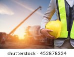 engineer or safety officer... | Shutterstock . vector #452878324