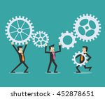teamwork concept   Shutterstock .eps vector #452878651