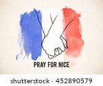 pray for nice word with hand... | Shutterstock . vector #452890579