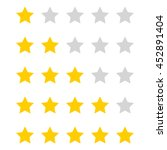 Five Stars Rating Icon Isolate...