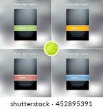 vector brochure or booklet...   Shutterstock .eps vector #452895391