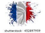 Ragged French Flag On The Whit...