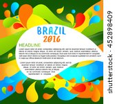 rio 2016. brazil background. | Shutterstock .eps vector #452898409