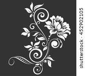 Stock vector flower design elements vector 452902105