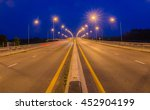 Car Free Road  In  Night Time .