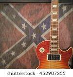 southern rock concept   guitar... | Shutterstock . vector #452907355