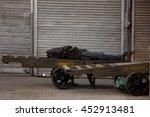 indian labors sleeping  ... | Shutterstock . vector #452913481