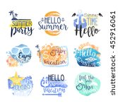 summer vacation promo signs... | Shutterstock .eps vector #452916061