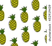 seamless pattern with pineapples | Shutterstock .eps vector #452919439