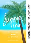 summer time beach party poster. ... | Shutterstock .eps vector #452924629