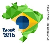 abstract brasil 2016 logo  with ...