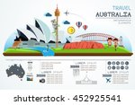 info graphics travel and... | Shutterstock .eps vector #452925541