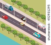 vector isometric highway along... | Shutterstock .eps vector #452931295