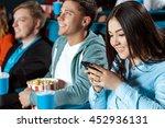 urgent text. shot of a... | Shutterstock . vector #452936131