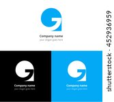 letter g logo icon flat and...