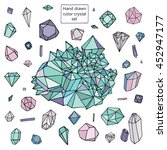 diamond crystal set | Shutterstock . vector #452947177