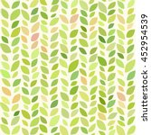 floral pattern with leaves.... | Shutterstock .eps vector #452954539
