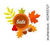 autumn discount lable with... | Shutterstock .eps vector #452955727