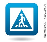 sign pedestrian crossing icon... | Shutterstock .eps vector #452962564