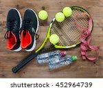 tennis equipment and footwear   Shutterstock . vector #452964739