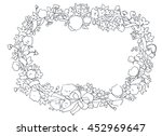 beautiful floral hand drawn... | Shutterstock . vector #452969647
