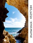 inside of mainsail. nature... | Shutterstock . vector #45297184