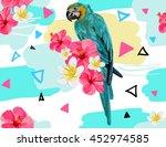 beautiful seamless vector... | Shutterstock .eps vector #452974585