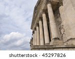 side view to berlin reichstag... | Shutterstock . vector #45297826