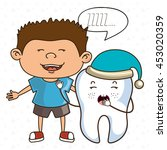 child with tooth isolated icon... | Shutterstock .eps vector #453020359