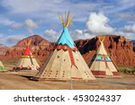 Indian Tents Decorated With...