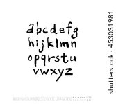 alphabet   number   handwriting ... | Shutterstock .eps vector #453031981