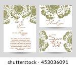 romantic invitation. wedding ... | Shutterstock .eps vector #453036091