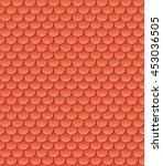 cartoon style seamless roof... | Shutterstock .eps vector #453036505
