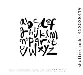 alphabet   number   handwriting ... | Shutterstock .eps vector #453038419