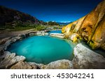turquoise pools travertine hot... | Shutterstock . vector #453042241