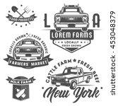 set of farm truck for logo... | Shutterstock .eps vector #453048379