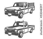 set of farm truck for logo... | Shutterstock .eps vector #453048397
